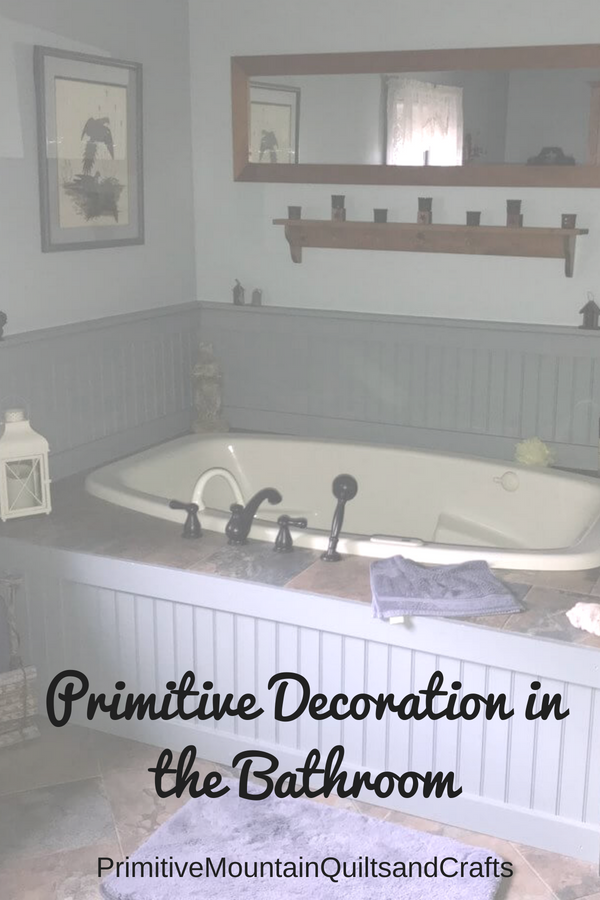 Primitive Decoration in the Bathroom