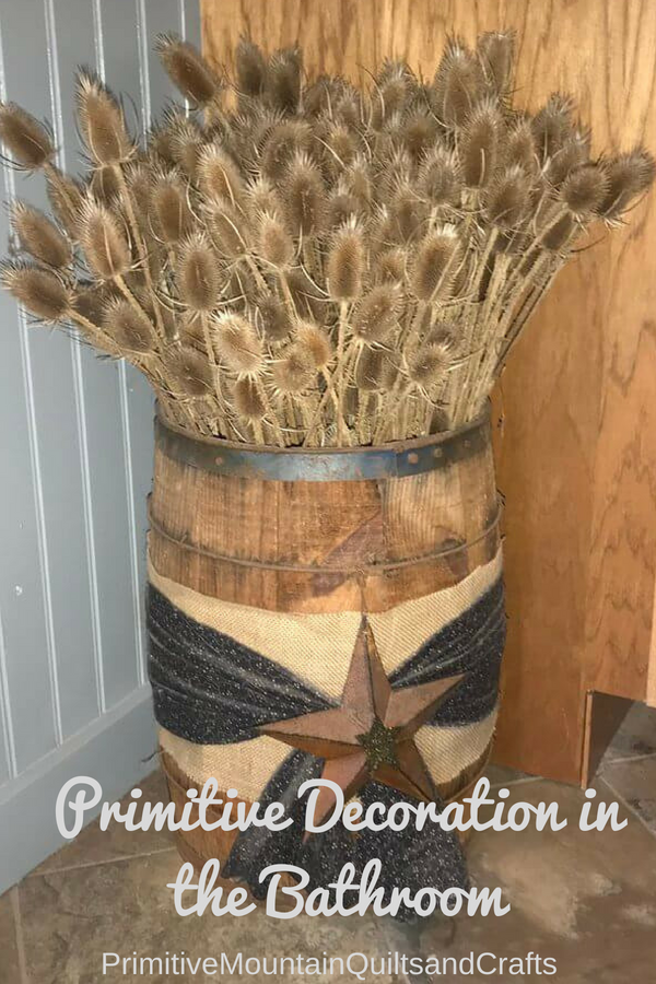 Primitive Decoration in the Bathroom