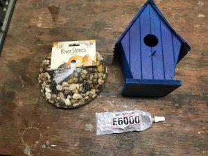 How to Turn a Plain Birdhouse Into a Stone Birdhouse