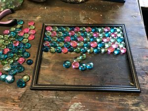 how to make a flat marble framed sun catcher