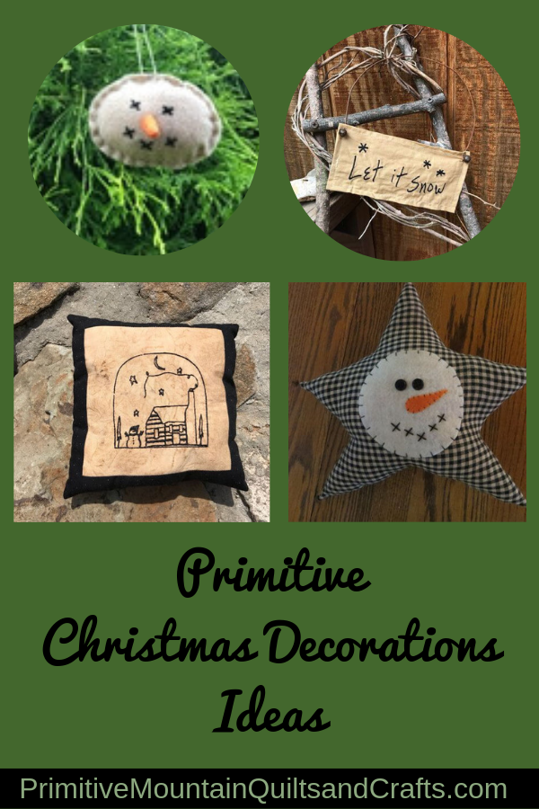 Primitive Christmas decoration ideas