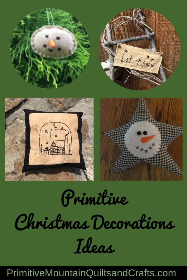 Primitive Christmas decoration ideas