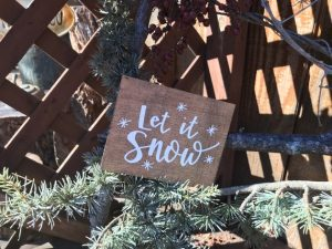 let it snow plaque