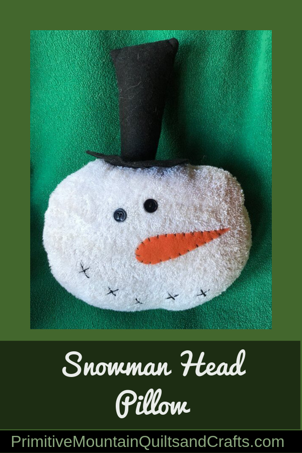 Snowman head pillow