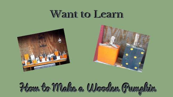 How to Make a Wooden Pumpkin