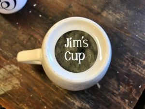 Personalized bottom of the coffee cup