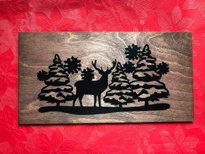 deer in trees
