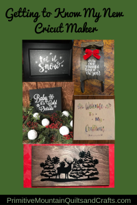 Getting to know my new cricut make