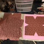 Fabric cut on mat