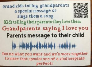 Personalized QR Code and Sound Wave Frame