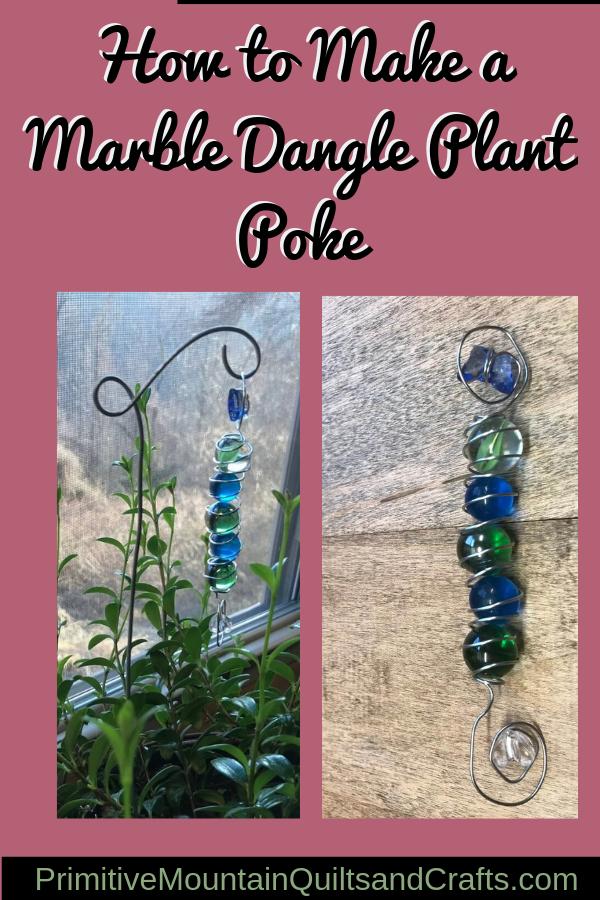 How to Make a Marble Dangle Plant Poke
