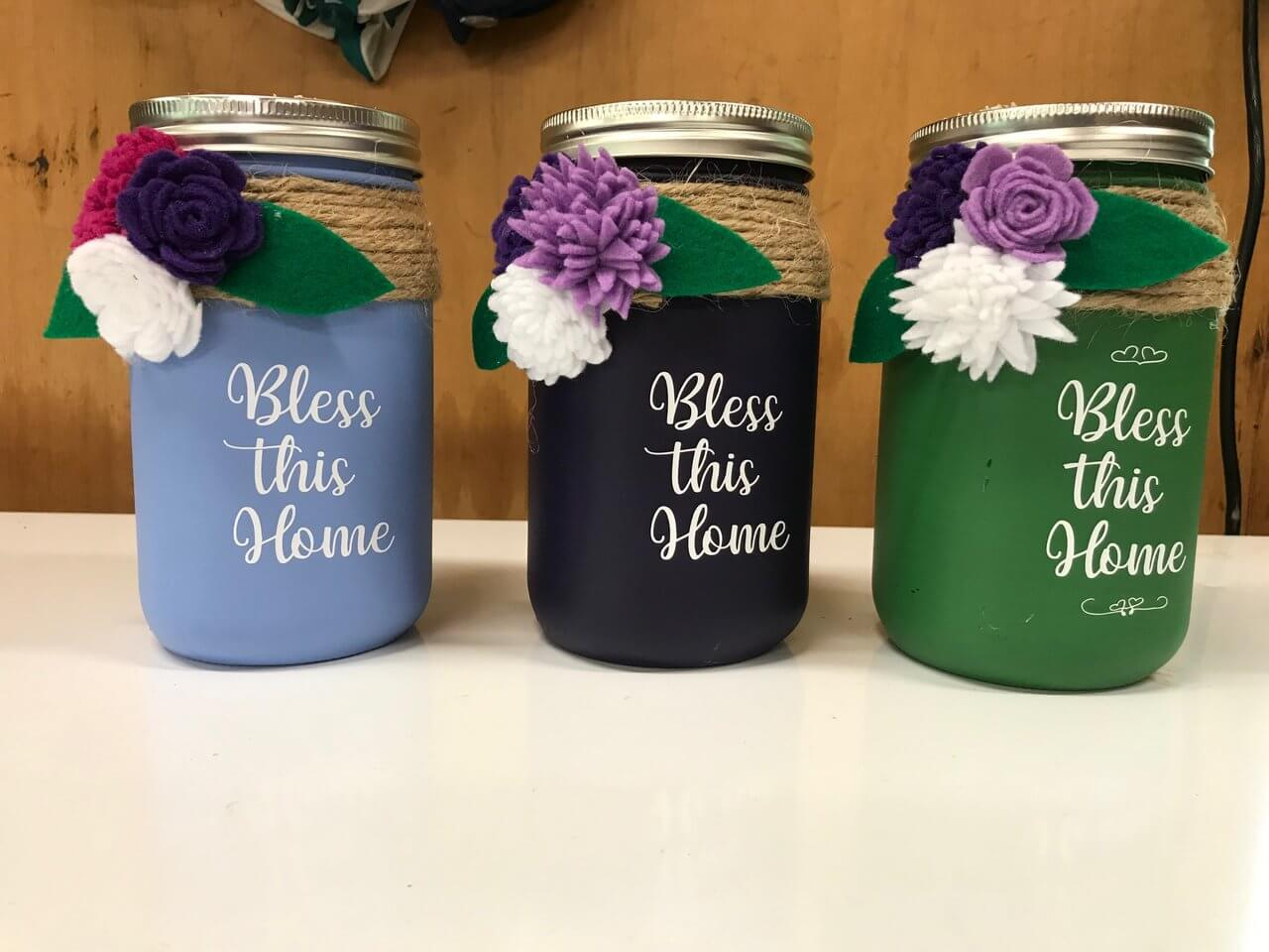 Mason Jar Tissue Holder With Cricut