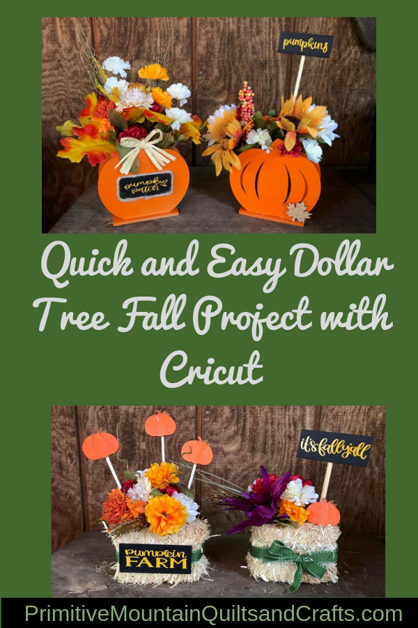 Quick And Easy Dollar Tree Fall Project With Cricut